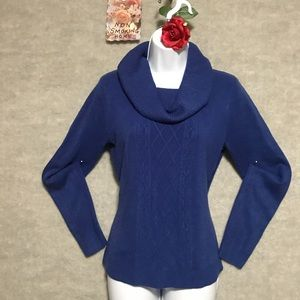 SM. ROYAL BLUE COWL NECK SWEATER REQUIREMENTS